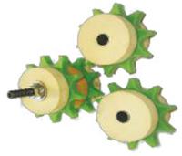 Rolki zębate do smarowania łańcuchów